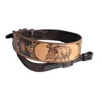Leather Rifle Sling- Wild boar