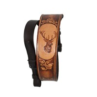 Leather Rifle Sling-deer