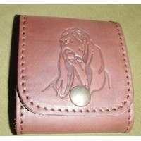 Leather Bullet Wallet - dog