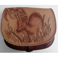 Leather bag -roe deer