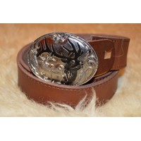 Hunting leather belt