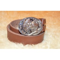 Hunting leather belt deer2