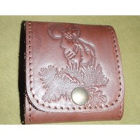 Leather Bullet Wallet -Mufflon