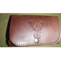 Leather Bullet Wallet-deer